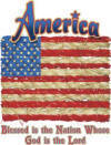 Blessed Nation Patriotic Christian Heat Transfers