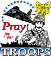 Pray for Our Troops - Patriotic Christian Apparel