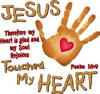 Jesus Touched My Heart Christian Hoodies