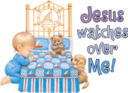 Jesus Watches Over Me Boy Youth and Toddler T-shirt