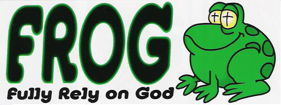 FROG:  Fully Rely on God Christian Youth T-Shirt