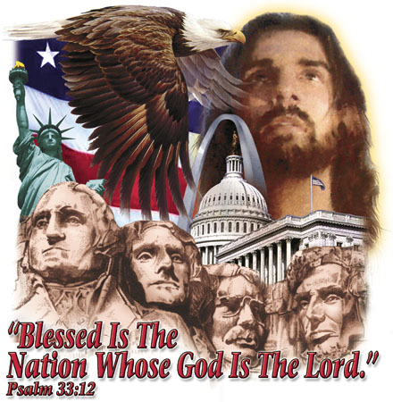 Blessed is the Nation - Christian T-shirt