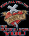His Blood's for You Christian Heat Transfers