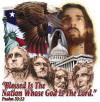 Christian t-shirt - Blessed is the Nation